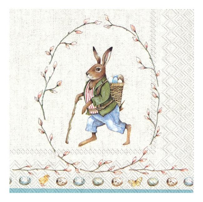 Serwetki 33x33cm Edward Rabbit 20szt.