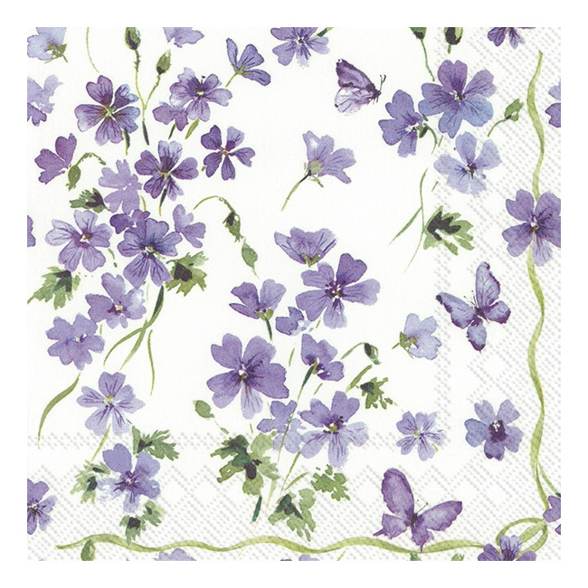 Serwetki 33x33cm Purple Spring 20szt.