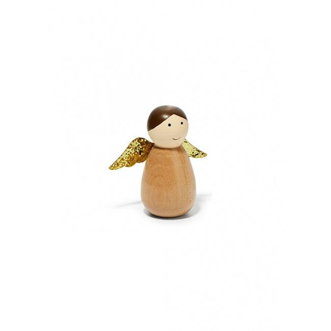 Aniołek Frida drewniany brązowy