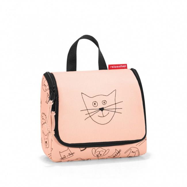 Kosmetyczka Toiletbag kids koty i psy 1,5l różowa