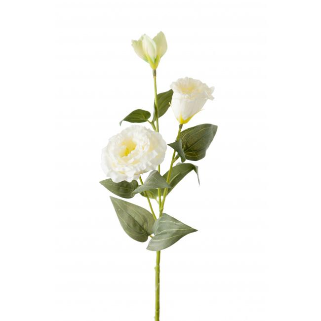 Gałązka eustomy biała 35cm