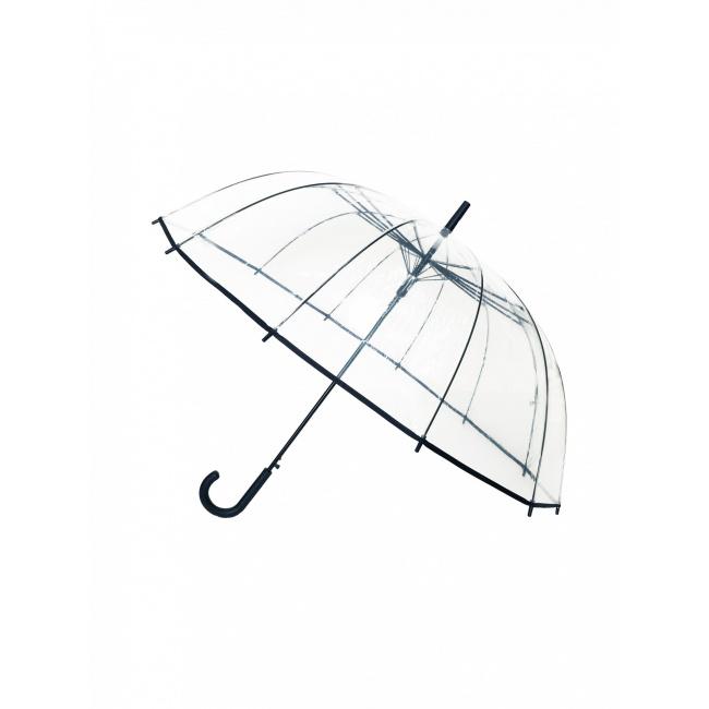 Parasol przezroczysty długi czarna bordi