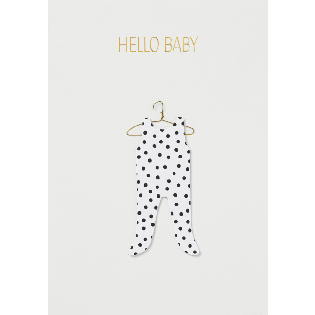 Kartka Hello Baby Cloth