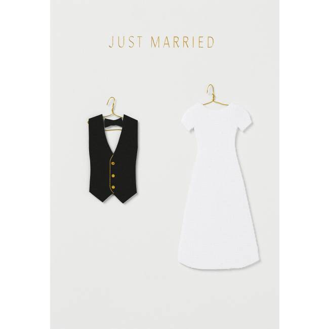 Kartka Just Married clothing
