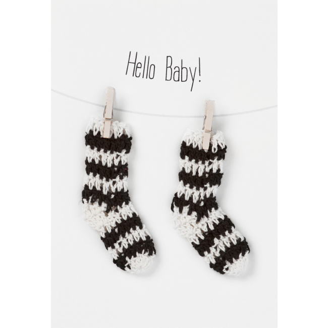 Kartka Hello Baby Socks!