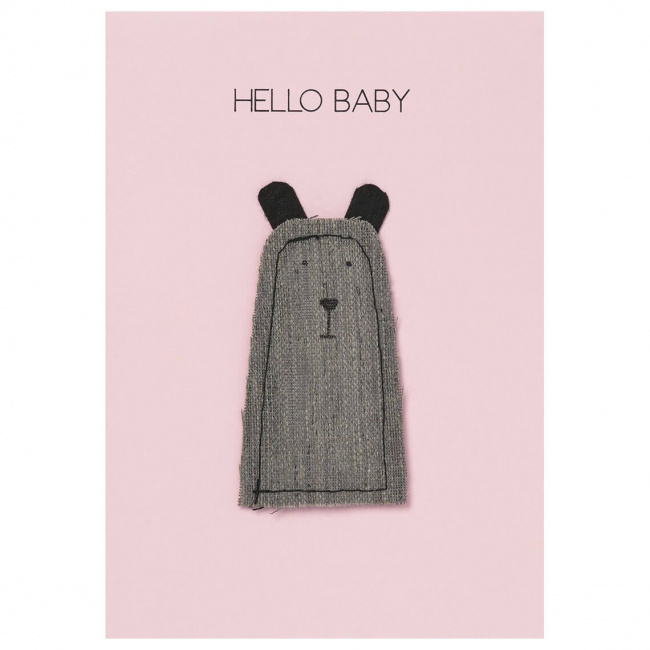 Kartka Hello baby cuddly