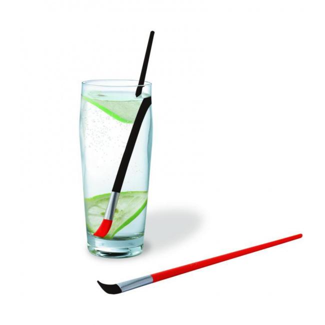 Zestaw 2 mieszadeł do drinków czerwone i czarne