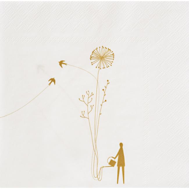 Serwetki papierowe Kwiaty 33x33cm 20sztuk