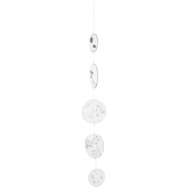 Łańcuch dekoracyjny 80cm szklane kółka