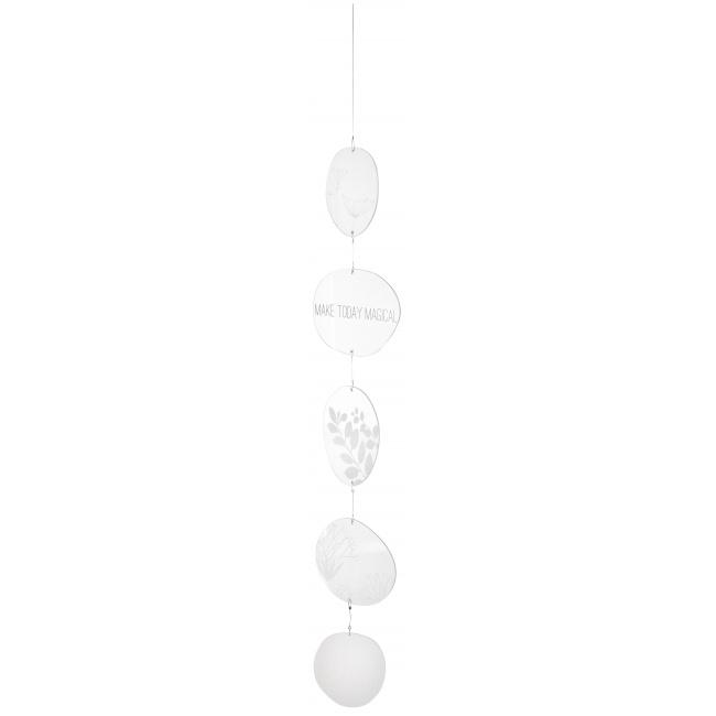 Łańcuch dekoracyjny 92cm szklane kółka