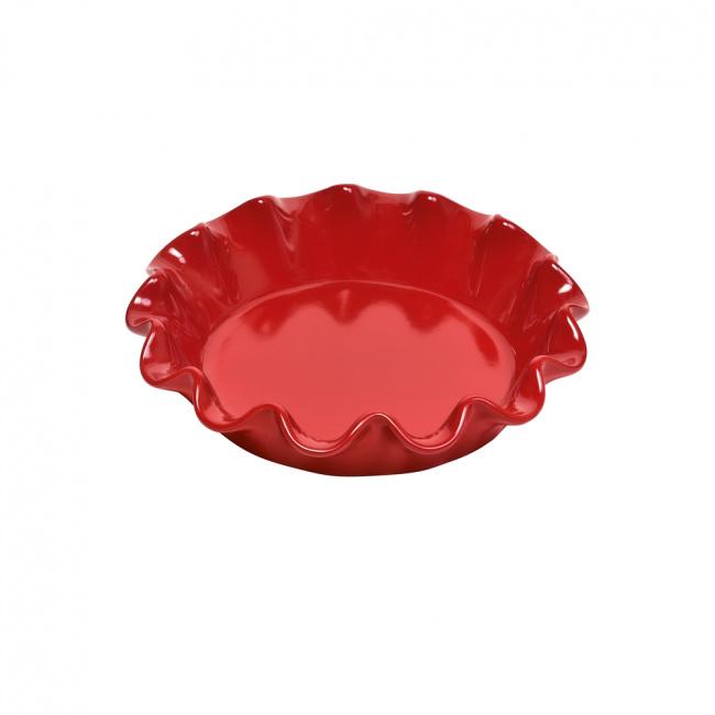 Naczynie do tarty 26,5cm falbanka czerwone