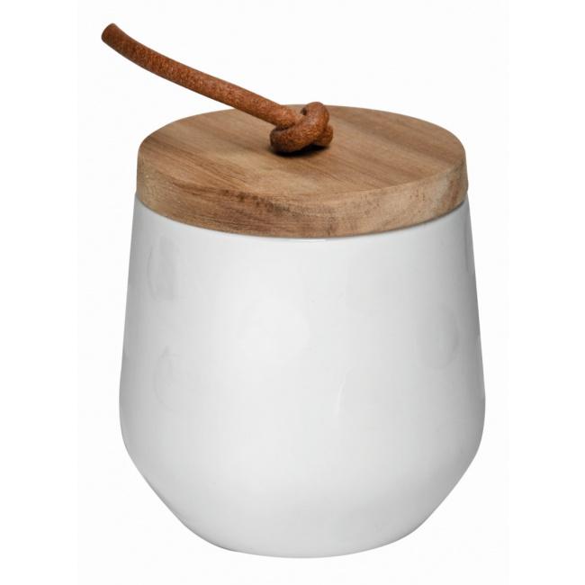 Pojemnik 9,5cm z drewnianym wieczkiem