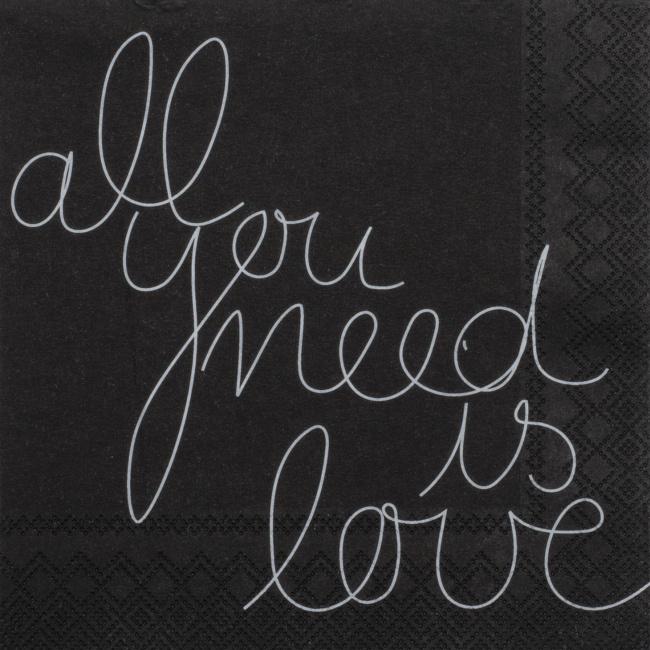 Serwetki 25x25cm All you need is love 20szt.
