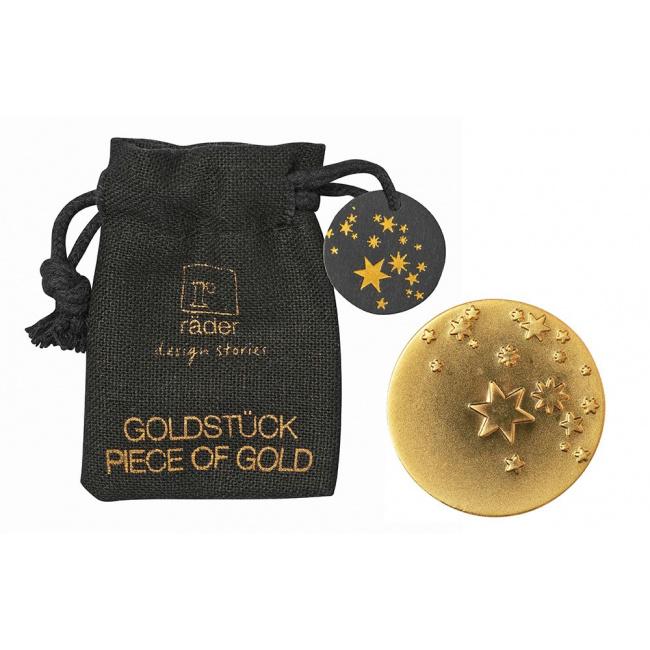 Amulet w woreczku Gwiazdki złota moneta