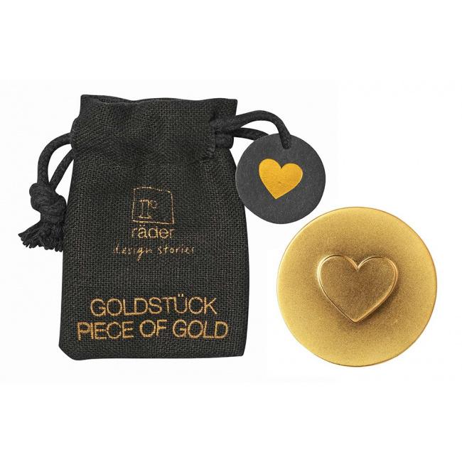 Amulet w woreczku Serce złota moneta