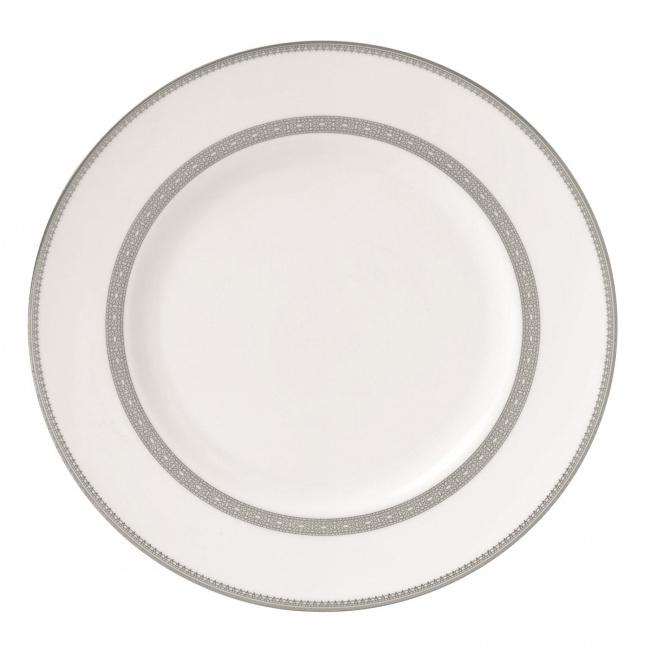 Talerz Vera Wang Lace Platinum 27cm obiadowy