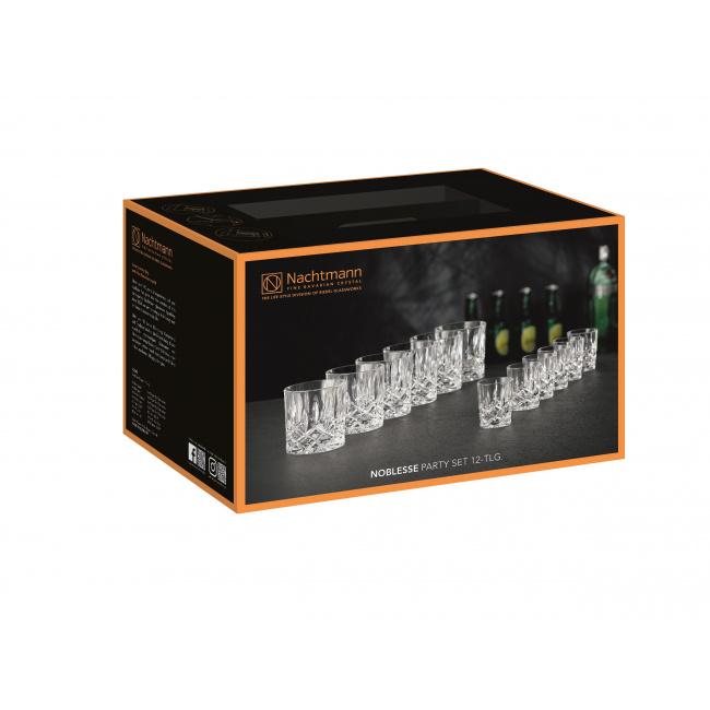 Komplet Noblesse Party Set 6 szklanek + 6 kieliszków do wódki