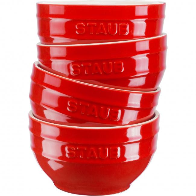 Zestaw 4 misek Serving 14cm czerwony