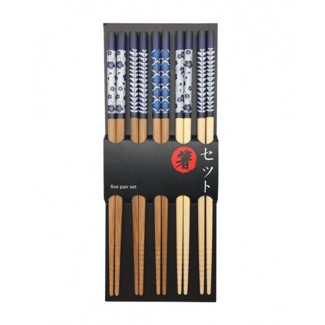 Komplet 5 pałeczek japońskich 22,5cm