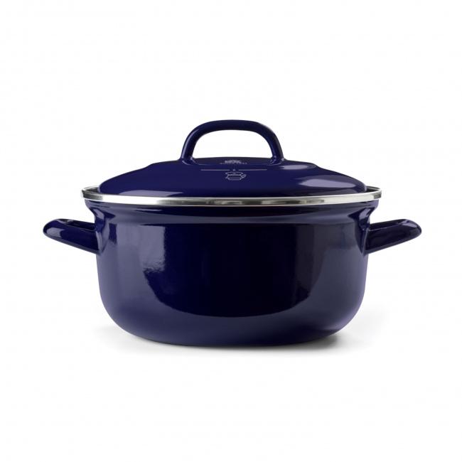 Garnek Braadpan 24cm 4,2l niebieski
