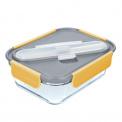 Lunchbox szklany 900ml+ sztućce stylist