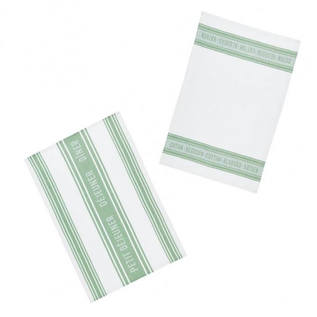 Komplet 2 ręczników kuchennych Jacquard Tea