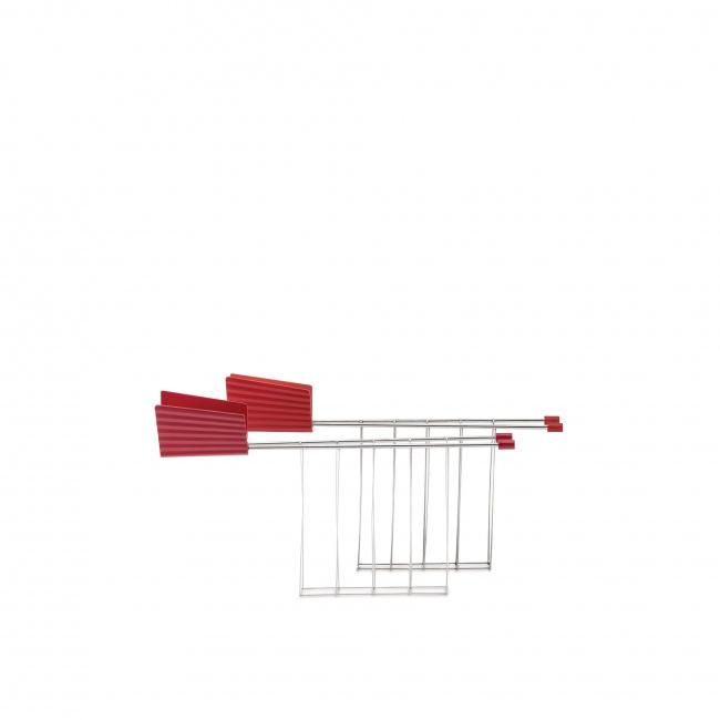 Zestaw dwóch ramek do tostera Plissé czerwony