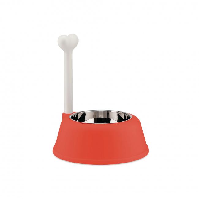 Miska Lupita dla psa czerwono-pomarańczowa