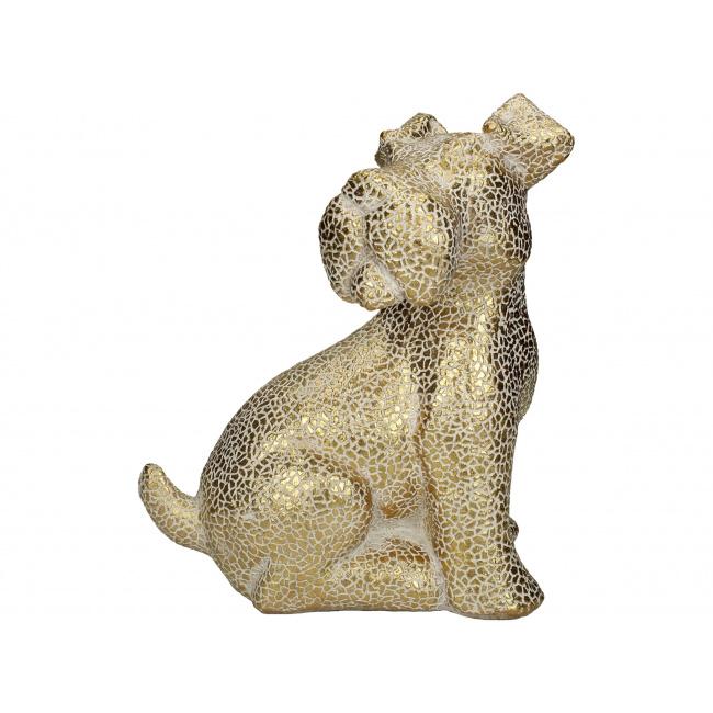 Figurka Pies 27cm złota