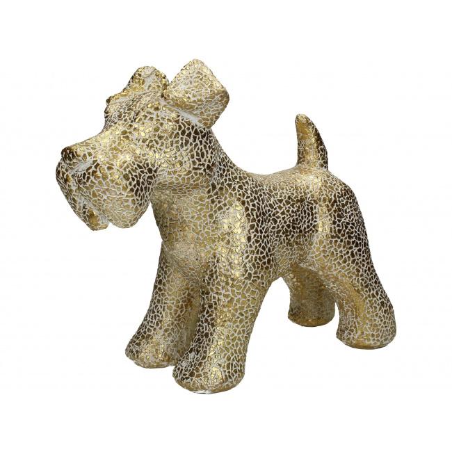 Figurka Pies 32cm złota