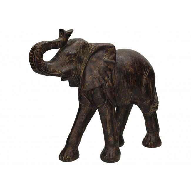 Figurka Słoń 37cm brązowa