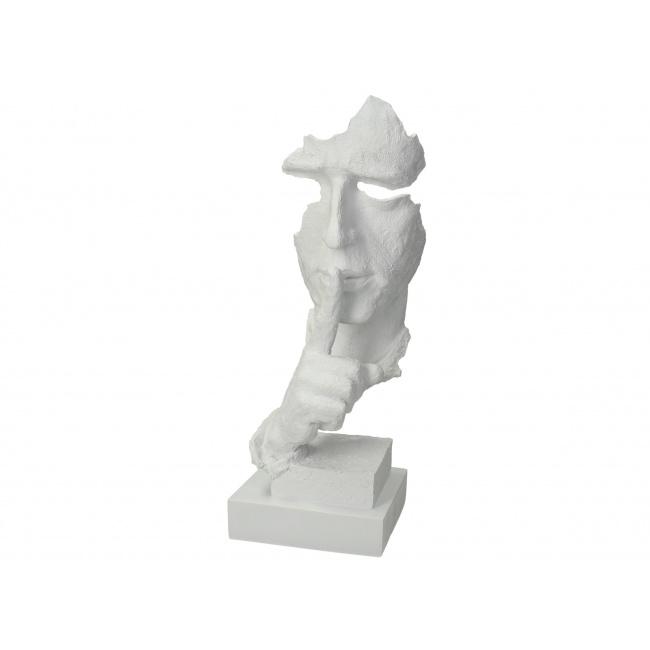 Figurka Twarz 34x13x12cm biała