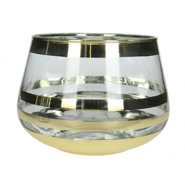 Wazon Gold line 16cm
