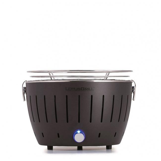 Grill węglowy mini 28cm szary