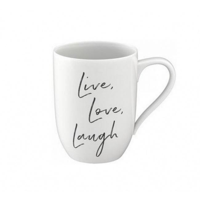 Kubek Statement 340ml Live Love Laugh