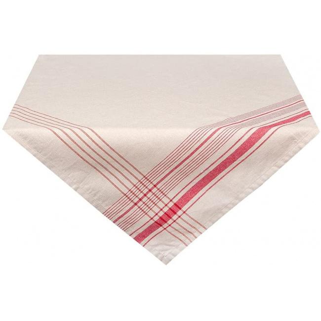 Obrus 100x100cm Red-White Line