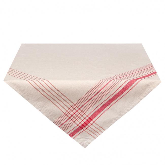Obrus 150x150cm Red-White Line