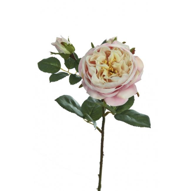 Gałązka Róża 56cm różowa