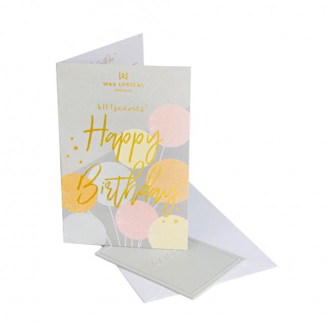 Kartka zapachowa GiftScents 8x10cm Happy Birthday