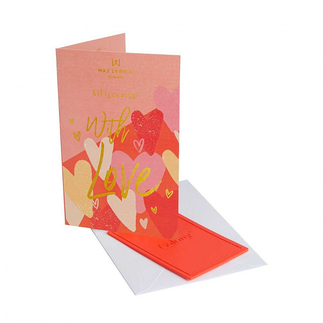 Kartka zapachowa GiftScents 8x10cm With Love