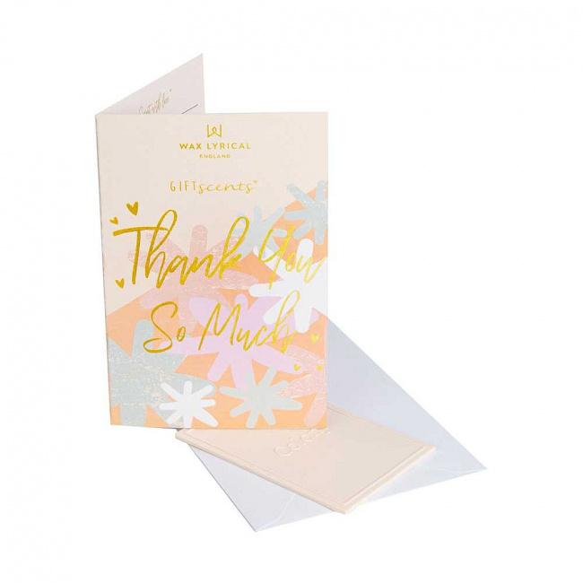 Kartka zapachowa GiftScents 8x10cm Thank You So Much