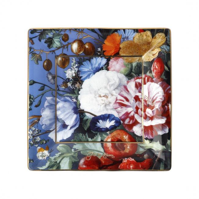 Talerz kwadratowy 12cm Summer Flowers