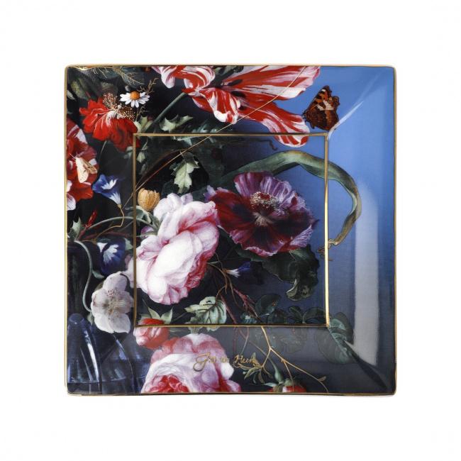 Talerz kwadratowy 16cm Summer Flowers