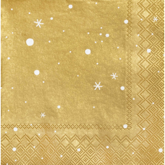 Serwetki 33x33 cm Stars Gold