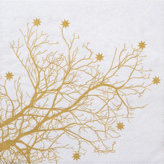 Serwetki 33x33cm Tree Gold 20szt.
