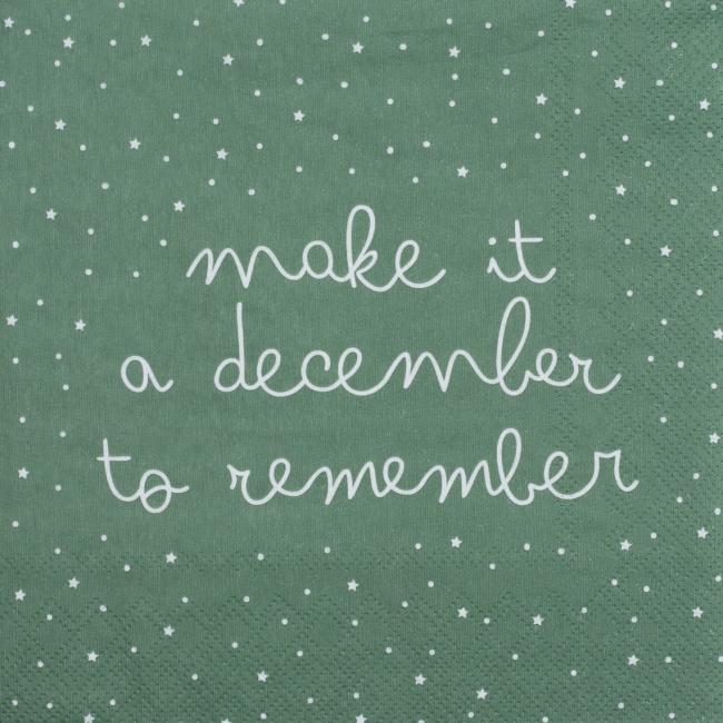 Serwetki 33x33cm Make it a december…