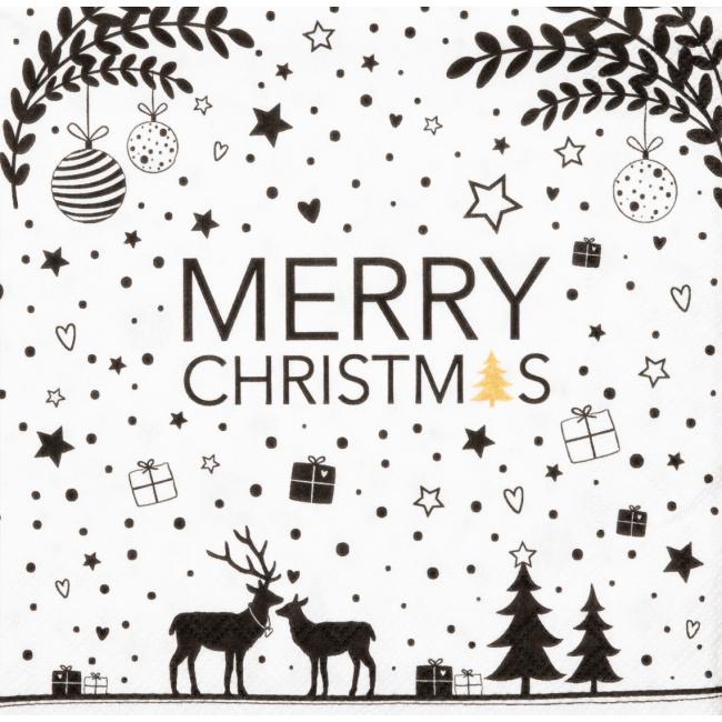 Serwetki 25x25cm Merry Christmas
