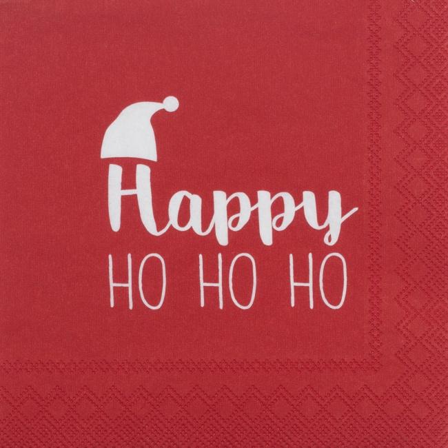 Serwetki 25x25cm Happy Ho Ho Ho
