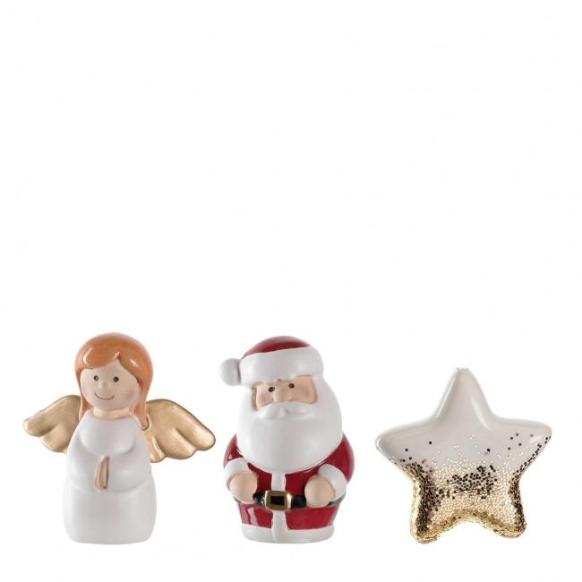 Komplet 3 figurek świątecznych