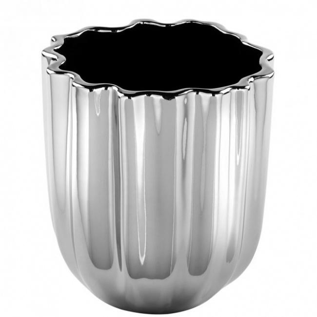 Wazon Flow 31x30cm srebrny